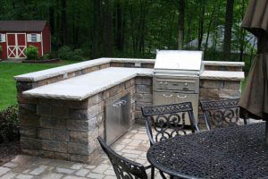 Patio with kitchen and grill