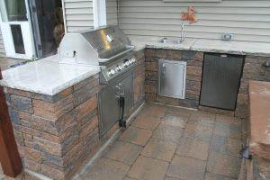 Backyard oasis with kitchen