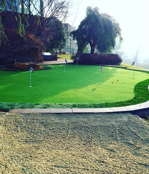 Golf Course Lawn Maintenance